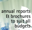 annual reports, brochures and other publications to suit all budgets